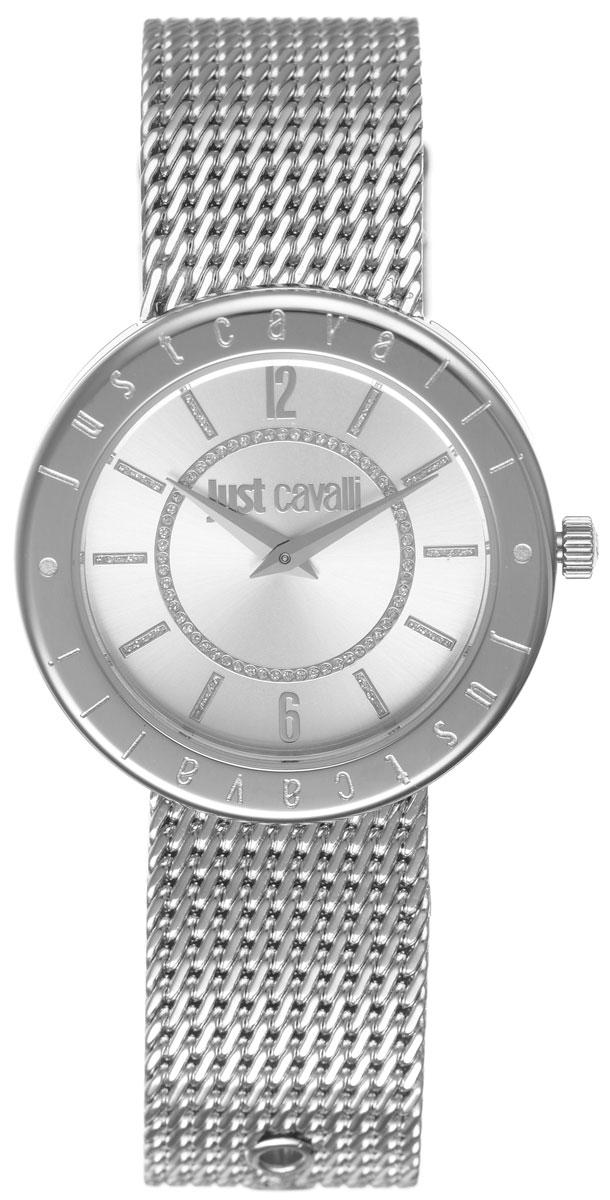Часы наручные женские Just Cavalli, цвет: серебристый. R7253532503R7253532503Наручные женские часы Just Cavalli произведены из материалов самого высокого качества на базе новейших технологий. Они оснащены точным кварцевым механизмом. Корпус часов изготовлен из нержавеющей стали, циферблат инкрустирован стразами и защищен минеральным стеклом. Ремешок выполнен из нержавеющей стали оснащен удобной застежкой-пряжкой, которая позволит моментально снимать и одевать часы без лишних усилий Циферблат круглой формы оснащен арабскими цифрами и отметками, а так же двумя стрелками - часовой и минутной. Часы являются водостойкими - 3АТМ. Изделие укомплектовано в стильную фирменную коробку с названием бренда. Часы Just Cavalli подчеркнут изящность женской руки и отменное чувство стиля у их обладательницы.