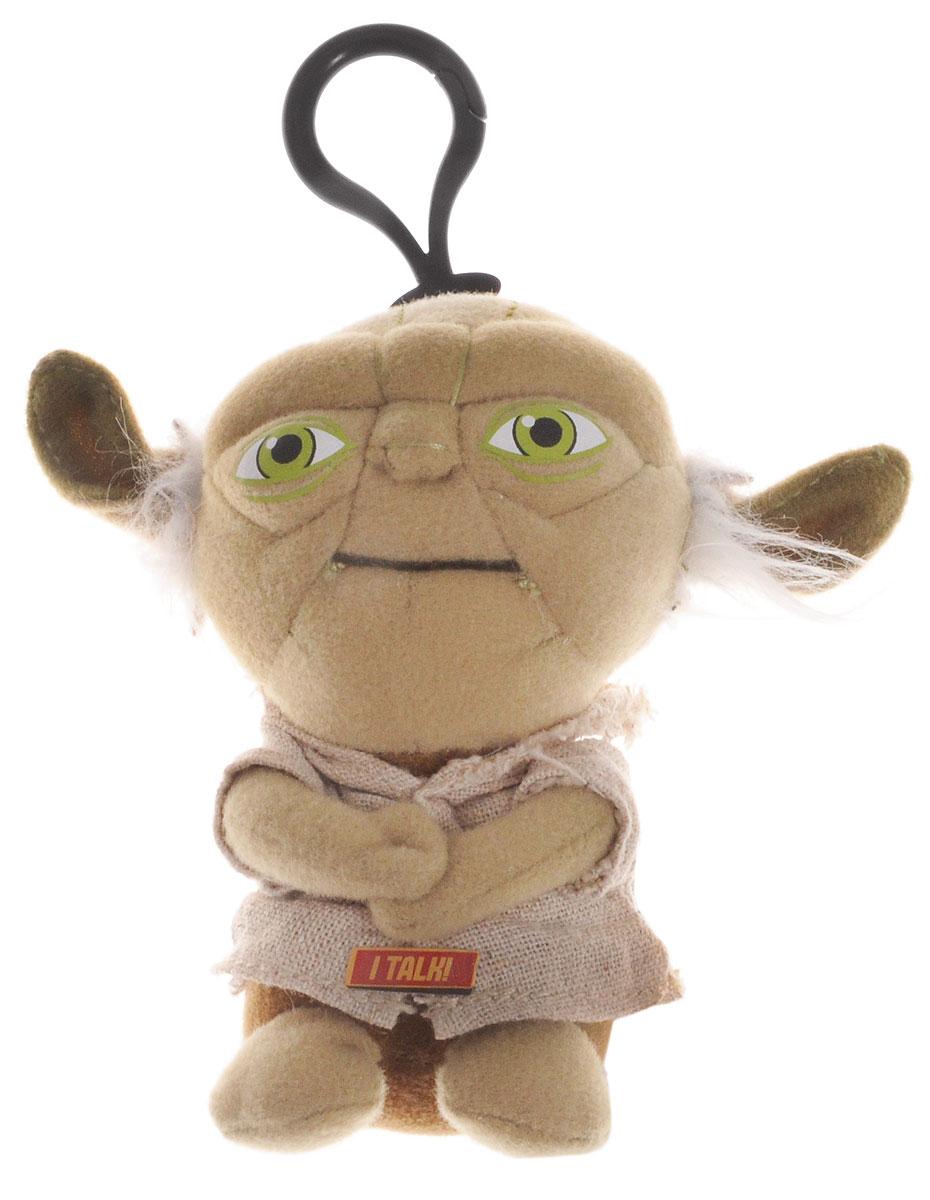 Star Wars Брелок Йода00248JОчаровательная мягкая игрушка-брелок Star Wars Йода приведет в восторг любого поклонника Звездных войн. Брелок выполнен из текстильного материала в виде любимого персонажа - мудрейшего и сильнейшего джедая Йоды. Пластиковый карабин позволит закрепить брелок на рюкзаке или сумке или повесить над рабочим столом. Сожмите игрушку - Йода скажет Judge me by my size do you?. Прекрасное качество исполнения делают этот брелок чудесным подарком истинному поклоннику Звездных войн. Порадуйте своего ребенка! Игрушка работает от 3-х незаменяемых батареек напряжением 1,5V типа AG10/LR1130.