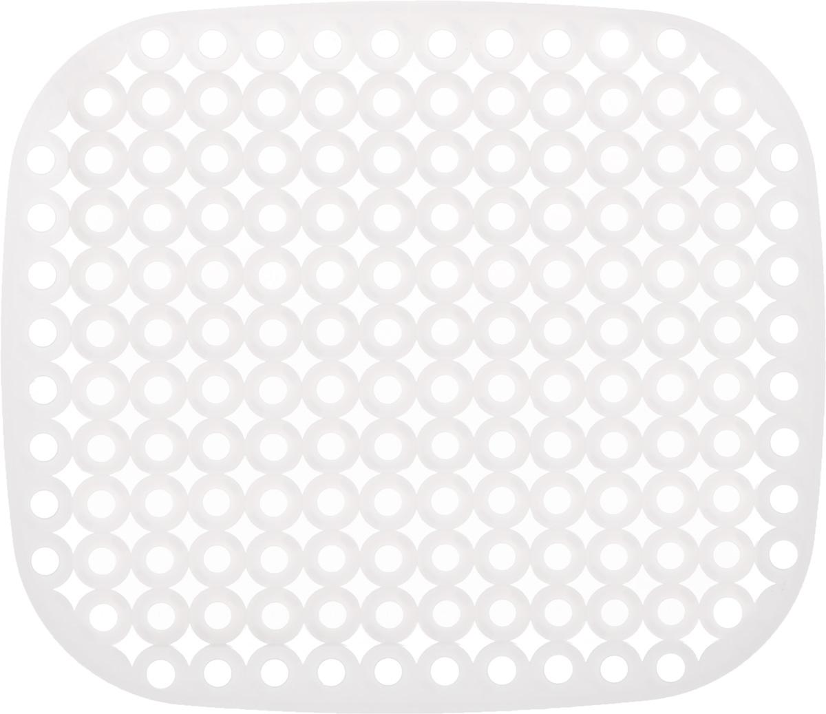 Коврик для раковины Tescoma Clean Kit, цвет: белый, 32 х 28 см900638Стильный и удобный коврик для раковины Tescoma Clean Kit выполнен из пластика. Он одновременно выполняет несколько функций: украшает, защищает мойку от царапин и сколов, смягчает удары при падении посуды в мойку, препятствует разбрызгиванию струи воды. Коврик также можно использовать для сушки посуды, фруктов и овощей. Нельзя мыть в посудомоечной машине.
