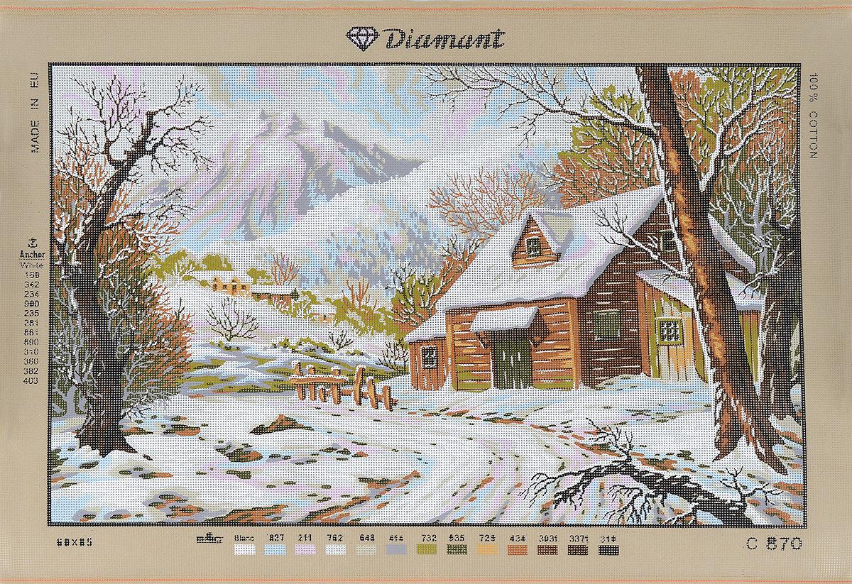 Канва жесткая с рисунком Soulos Зимний домик в горах, 80 х 60 см. C.870C.870Канва для вышивания Soulos Зимний домик в горах изготовлена из 100% хлопка. Применяется как основа или трафарет для вышивания. Создайте свой личный шедевр - красивую вышитую картину. Работа, выполненная своими руками, станет отличным подарком для друзей и близких!