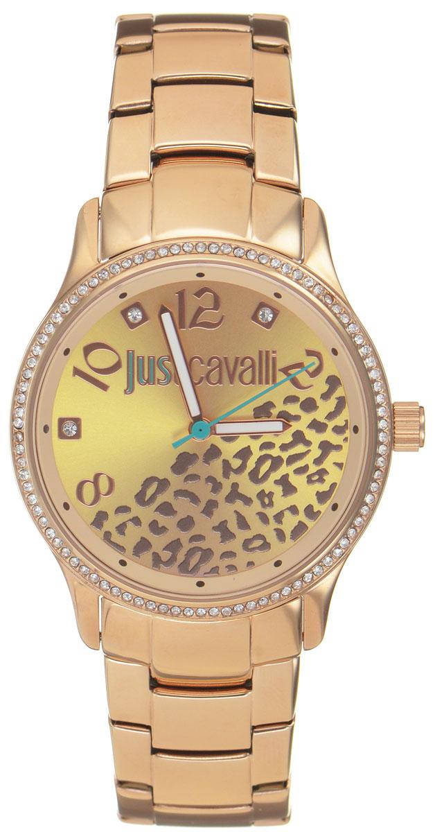 Часы наручные женские Just Cavalli, цвет: розовое золото. R7253127510R7253127510Наручные женские часы Just Cavalli произведены из материалов самого высокого качества на базе новейших технологий. Они оснащены точным кварцевым механизмом. Корпус часов изготовлен из нержавеющей стали с PVD-покрытием, циферблат инкрустирован стразами Swarovski и защищен минеральным стеклом. Ремешок выполнен из нержавеющей стали с PVD-покрытием и оснащен удобной раскладывающейся застежкой, которая позволит моментально снимать и одевать часы без лишних усилий Циферблат круглой формы оснащен тремя стрелками - часовой, минутной и секундной, оформлен названием бренда и звериным мотивом. Часы являются водостойкими - 3АТМ. Изделие укомплектовано в стильную фирменную коробку с названием бренда. Наручные часы Just Cavalli созданы для современных девушек, которые не желают потерять свою индивидуальность в городской суете.