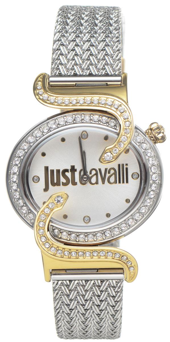 Часы наручные женские Just Cavalli, цвет: серебристый. R7253591508R7253591508Оригинальные женские часы Just Cavalli выполнены из нержавеющей стали с PVD-покрытием и минерального стекла. Изделие дополнено символикой бренда. Корпус часов выполнен из нержавеющей стали с PVD-покрытием, оформлен оригинальными змейками, извивающимися вдоль корпуса, инкрустирован стразами. Циферблат дополнен минеральным стеклом и имеет степень влагозащиты равную 3 atm. Ремешок имеет практичную пряжку, которая позволит моментально снимать и одевать часы без лишних усилий. Часы поставляются в фирменной упаковке. Часы Just Cavalli подчеркнут изящность женской руки и отменное чувство стиля у их обладательницы.
