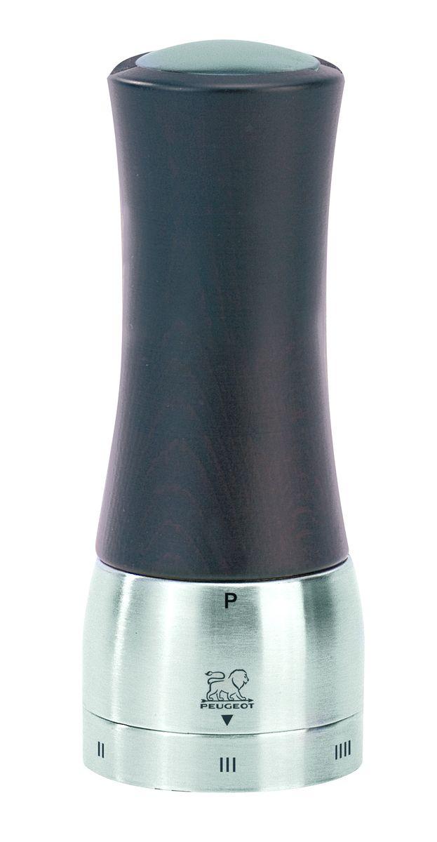 Мельница для перца Peugeot Madras, цвет: шоколадный, серый, высота 16 см25205Мельница для перца Peugeot Madras - отличное приспособление для приготовления блюд со свежемолотым перцем. Выполнена из дерева и нержавеющей стали. Madras - это шикарное сочетание тонированного дерева и нержавеющей стали, а также инновация последнего поколения - удаление центрального вала. Эта система, которая внешне незаметна в этой модели, имеет важное значение при использовании, позволяя гораздо легче заполнять резервуар. Доступ к нему осуществляется через намагниченную пробку в верхней части мельницы. Изделие оснащено двойным рядом винтообразных зубцов для захвата горошин и подачи их к основанию, а затем удержания их до безупречного помола. Эта уникальная система позволяет регулировать уровень помола. Зубцы имеют антикоррозионное покрытие.
