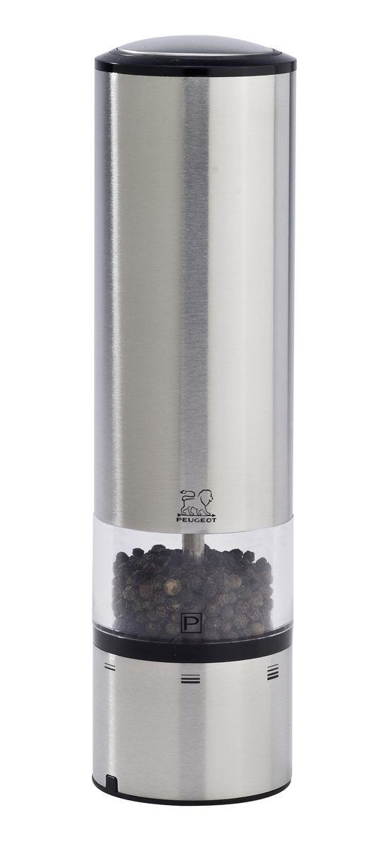 Мельница для перца Peugeot Elis Sense, электрическая, высота 20 см27162Мельница для перца с сенсорным управлением Peugeot Elis Sense поможет вам в приготовлении пищи. Благодаря внедрению сенсорной технологии, Elise Sense может похвастаться непревзойденной эргономикой. Больше нет необходимости нажимать на кнопку, достаточно легкого прикосновения, чтобы получить нужное вам количество соли или перца. Синяя подсветка указывает, что мельница находится в рабочем состоянии, а LED освещение в основании мельницы позволяет вам контролировать количество и степень помола специй. Запатентованная система регулировки uSelect предлагает пользователю лучшее качество помола.