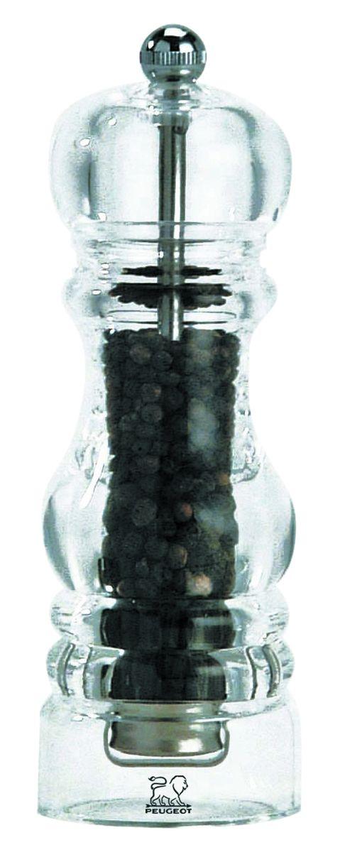 Мельница для перца Peugeot Nancy, высота 22 см900822Мельница для соли Peugeot Nancy - отличное приспособление для приготовления блюд со свежемолотой солью. Выполнена из акрила и нержавеющей стали. Изделие оснащено двойным рядом винтообразных зубцов для захвата горошин и подачи их к основанию, а затем удержания их до безупречного помола. Эта уникальная система позволяет регулировать уровень помола. Зубцы имеют антикоррозионное покрытие.
