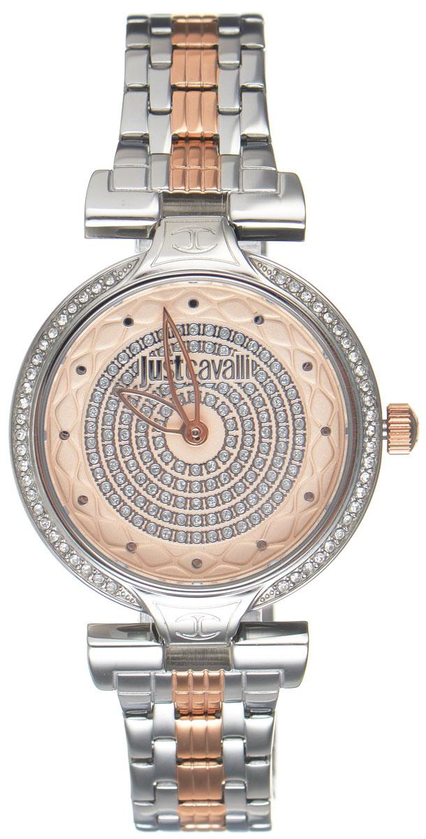 Часы наручные женские Just Cavalli, цвет: серебристый. R7253579502R7253579502Наручные женские часы Just Cavalli произведены из материалов самого высокого качества на базе новейших технологий. Они оснащены точным кварцевым механизмом. Корпус часов изготовлен из нержавеющей стали с PVD-покрытием, циферблат инкрустирован стразами Swarovski и защищен минеральным стеклом. Ремешок выполнен из нержавеющей стали с PVD-покрытием и оснащен удобной раскладывающейся застежкой, которая позволит моментально снимать и одевать часы без лишних усилий Циферблат круглой формы оснащен двумя стрелками - часовой и минутной, инкрустирован стразами и оформлен названием бренда. Часы являются водостойкими - 3АТМ. Изделие укомплектовано в стильную фирменную коробку с названием бренда. Наручные часы Just Cavalli созданы для современных девушек, которые не желают потерять свою индивидуальность в городской суете. Изящный стиль, дополненный чарующим сиянием кристаллов, придется по вкусу даже самой взыскательной моднице.