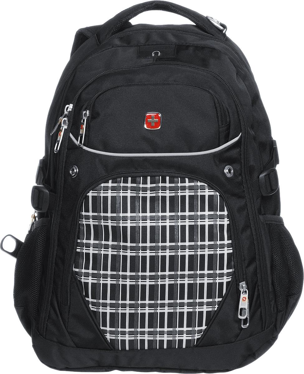 Рюкзак Wenger, цвет: черный, белый, 33 х 20 х 47 см, 32 л3107204408Рюкзак Wenger - это самодостаточный, многофункциональный и надежный спутник своего владельца, как и знаменитый швейцарский нож! Благодаря многофункциональности рюкзака, вы можете легко организовать свои вещи, отправив ключи, мобильный телефон и еще тысячу мелочей в специальный карман-органайзер, положив ноутбук в надежный мягкий карман под спинкой. После этого останется еще много места для других необходимых вещей. Рюкзаки и сумки Wenger - это прежде всего современные материалы и фурнитура от надежных поставщиков и швейцарский контроль качества, благодаря которому репутация компании была и остается столь высокой. Продуманная конструкция и современные технологии проявляются главным образом в потрясающей надежности рюкзаков и сумок Wenger. А ведь надежность - самое важное качество и в амуниции, и в людях! Особенности: Отделение с мягкими стенками для ноутбука с диагональю экрана 15 дюймов. Эргономичные плечевые ремни анатомической формы с пропускающей воздух...