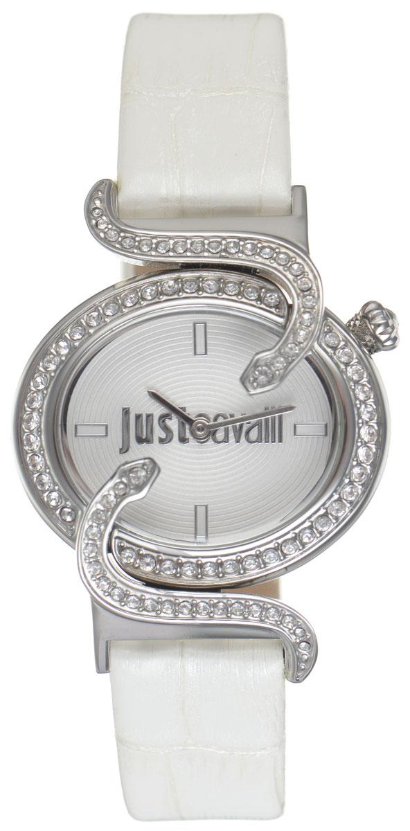Часы наручные женские Just Cavalli, цвет: белый. R7251591502R7251591502Наручные женские часы Just Cavalli произведены из материалов самого высокого качества на базе новейших технологий. Они оснащены точным кварцевым механизмом. Корпус часов изготовлен из нержавеющей стали, циферблат инкрустирован стразами, оформлен оригинальными змейками, извивающимися вокруг циферблата, и защищен минеральным стеклом. Ремешок выполнен из натуральной лаковой кожи с тиснением под крокодила и оснащен классической застежкой-пряжкой. Циферблат круглой формы оснащен отметками, а так же двумя стрелками - часовой и минутной. Часы являются водостойкими - 3АТМ. Изделие укомплектовано в стильную фирменную коробку с названием бренда. Часы Just Cavalli подчеркнут изящность женской руки и отменное чувство стиля у их обладательницы.