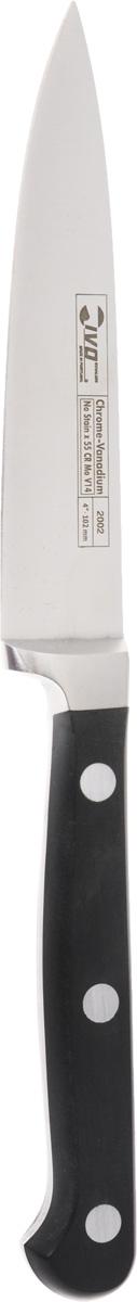 Нож кухонный Ivo, длина лезвия 10 см2002Кухонный нож Ivo изготовлен из высококачественной стали. Удобная рукоятка ножа, выполненная из пластика, не позволит выскользнуть ему из руки. Этот нож идеально шинкует, нарезает и измельчает продукты. Он займет достойное место среди аксессуаров на вашей кухне. Общая длина ножа: 21 см.