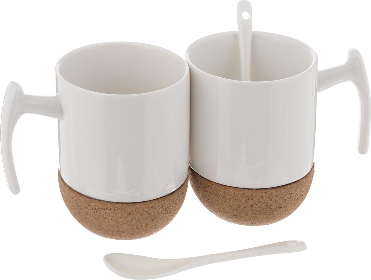 Набор чайный EcoWoo, 4 предмета2012241UНабор чайный EcoWoo - это не только идеальный подарок, но и прекрасный повод побаловать себя! Набор состоит из 2 фарфоровых кружек с пробковым основанием и 2 ложек. Такой набор станет идеальным решением для ценителей экологичных деталей в интерьере и поклонников здорового образа жизни. Не использовать в посудомоечной машине. Объем кружки: 280 мл. Диаметр кружки (по верхнему краю): 7,5 см. Высота кружки: 10,5 см. Длина ложки: 13 см.
