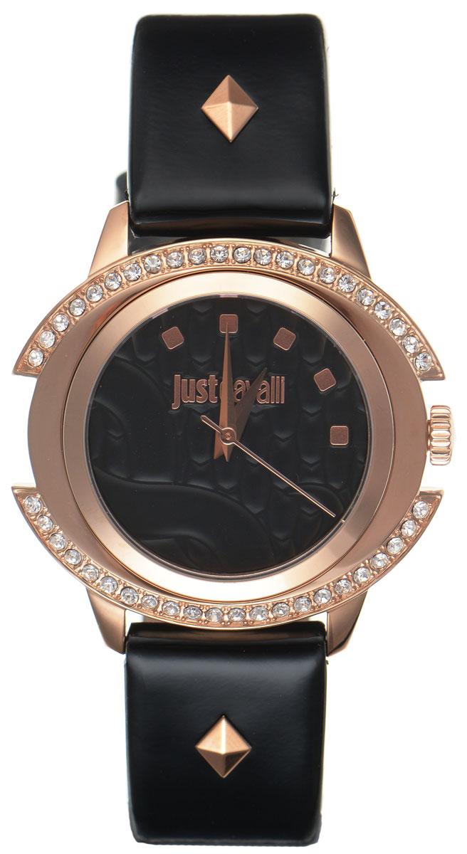 Часы наручные женские Just Cavalli, цвет: черный. R7251216501R7251216501Наручные женские часы Just Cavalli произведены из материалов самого высокого качества на базе новейших технологий. Они оснащены точным кварцевым механизмом. Корпус часов изготовлен из нержавеющей стали с PVD-покрытием и инкрустирован стразами Swarovski, циферблат защищен минеральным стеклом, оформлен символикой бренда и затаил в себе змеиный рисунок, характерный для изделий Just Cavalli. Ремешок выполнен из натуральной лаковой кожи и оснащен классической застежкой-пряжкой. Циферблат круглой формы оснащен тремя стрелками - часовой, минутной и секундной и оформлен названием бренда. Часы являются водостойкими - 3АТМ. Изделие укомплектовано в стильную фирменную коробку с названием бренда. Наручные часы Just Cavalli созданы для современных девушек, которые не желают потерять свою индивидуальность в городской суете. Изящный стиль, дополненный чарующим сиянием кристаллов, придется по вкусу даже самой взыскательной моднице.