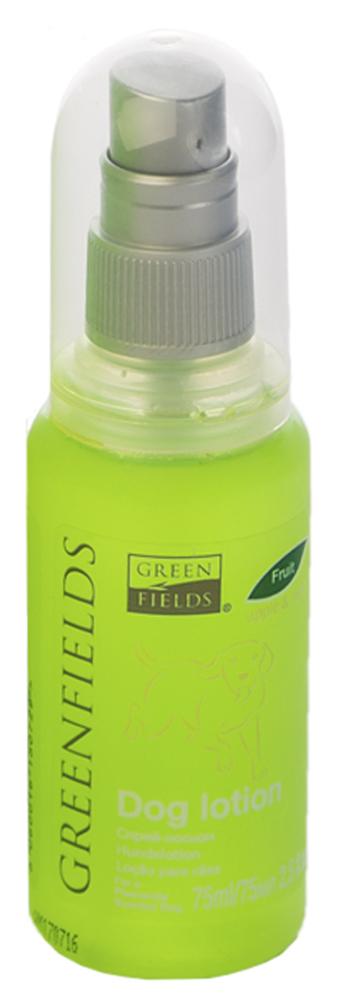 Спрей-лосьон для собак Greenfields Яблоко и мята, 75 мл8718836725005Спреи-лосьоны Greenfields для устранения запаха на животном – устраняет неприятный запах на молекулярном уровне. Придает приятный аромат и блеск шерсти животного. Содержит натуральные дезодорирующие компоненты. Идеально подходит для всех пород собак.