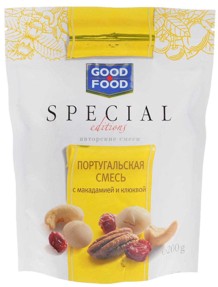 Good Food Special португальская смесь с макадамией и клюквой, 200 г