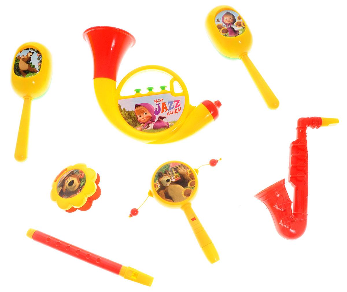 Маша и Медведь Набор музыкальных инструментов Моя Jazz банда 7 предметовGT7645Уже с малых лет у детей может начать проявляться интерес к музыке, но настоящие инструменты малышу давать рано, поэтому лучшим решением в этой ситуации послужат детские музыкальные инструменты. Набор музыкальных инструментов Маша и Медведь Моя Jazz банда привлечет внимание вашего ребенка и позволит ему создать незабываемый концерт. В набор входят семь видов музыкальных инструментов. Если пригласить друзей, то можно составить небольшой оркестр. Игра на музыкальных инструментах способствует развитию координации движений, ловкости, тактильных ощущений, моторики рук, слуха, прививает с детства любовь к музыке.