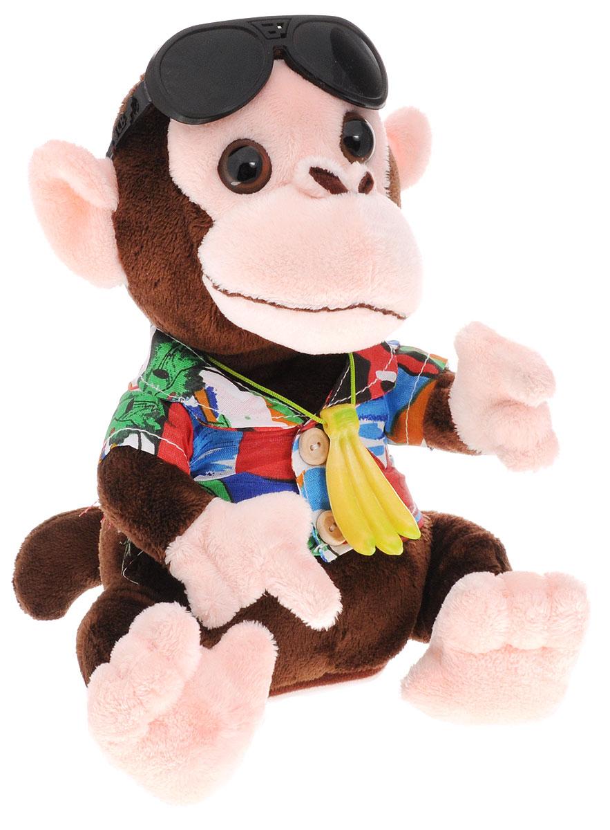 Tongde Интерактивная игрушка Обезьяна-повторюшкаT50-D994Мягкая интерактивная игрушка Tongde Обезьяна-повторюшка, выполненная в виде стильной обезьянки в летней рубашке и с черными очками на голове, привлечет внимание не только ребенка, но и взрослого и вызовет улыбку у каждого, кто ее видит. Обезьяна-повторюшка завоевала сердца множества детей и взрослых, благодаря своему милому виду и забавному умению - повторять слова и петь смешным голосом. Кроме того, когда обезьяна поет - она двигается. Ребенок будет в восторге от бесхитростного общения со своим новым игрушечным зверьком. Эта милая игрушка поднимет вам настроение и поможет развеселить друзей! Такой подарок понравится как детям, так и взрослым! Необходимо купить 3 батарейки типа ААА (не входят в комплект).