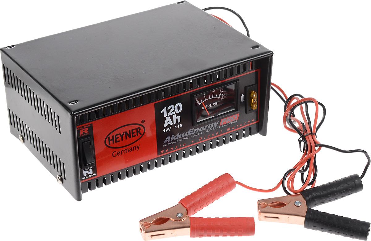 Зарядное устройство Heyner, 11 А, 120 Ач, 12В931100Зарядное устройство Heyner предназначено для АКБ емкостью 120 Ah 12V. Изделие имеет гарантированную работоспособность при -40°С. Универсальные клеммы подходят для всех аккумуляторов. Устройство защищено от перегрузок, от обратного тока и от короткого замыкания. Переключатель стандарт/быстрый заряд. Предназначен для кислотных АКБ и АКБ стандарта AGM. Удобная сумка для хранения и перевозки в комплекте. Емкость: 120 Ач. Ток: 11 А. Напряжение: 12В.