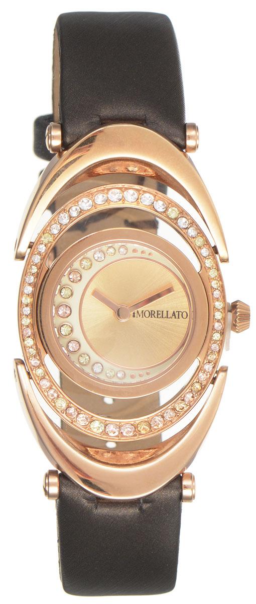 Часы наручные женские Morellato, цвет: коричневый. R0151106504R0151106504Элегантные женские часы Morellato изготовлены из высококачественной нержавеющей стали со стойким PVD покрытием. Ремешок выполнен из натуральной кожи и оснащен классической застежкой-пряжкой. Точный кварцевый механизм имеет степень влагозащиты равную 3 Bar и дополнен часовой и минутной стрелками. Корпус и циферблат инкрустированы искусственными кристаллами. Для того чтобы защитить циферблат от повреждений в часах используется высокопрочное минеральное стекло. Изделие упаковано в фирменную коробку и дополнительно в подарочную коробку с названием бренда. Часы Morellato подчеркнут изящность женской руки и отменное чувство стиля у их обладательницы.