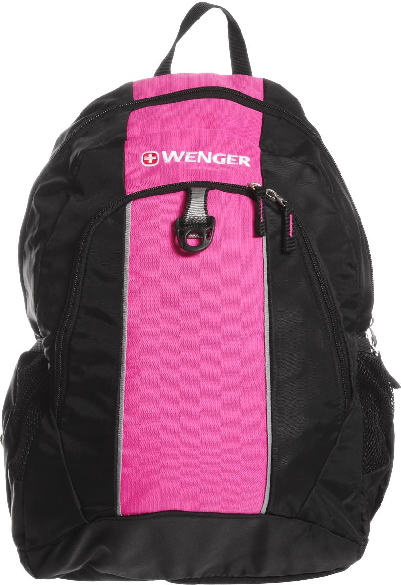 """Рюкзак городской Wenger """"SA1722"""", цвет: черный, розовый, 20 л"""