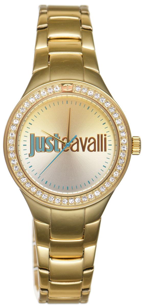 Часы наручные женские Just Cavalli, цвет: золотой. R7253201501R7253201501Наручные женские часы Just Cavalli произведены из материалов самого высокого качества на базе новейших технологий. Они оснащены точным кварцевым механизмом. Корпус часов изготовлен из нержавеющей стали с PVD-покрытием, циферблат инкрустирован стразами Swarovski и защищен минеральным стеклом. Ремешок выполнен из нержавеющей стали с PVD-покрытием оснащен удобной раскладывающейся застежкой, которая позволит моментально снимать и одевать часы без лишних усилий Циферблат круглой формы оснащен отметками, оформлен стильным градиентом от серебристого к золотому, а так же тремя стрелками - часовой, минутной и секундной. Часы являются водостойкими - 3АТМ. Изделие укомплектовано в стильную фирменную коробку с названием бренда. Часы Just Cavalli подчеркнут изящность женской руки и отменное чувство стиля у их обладательницы.