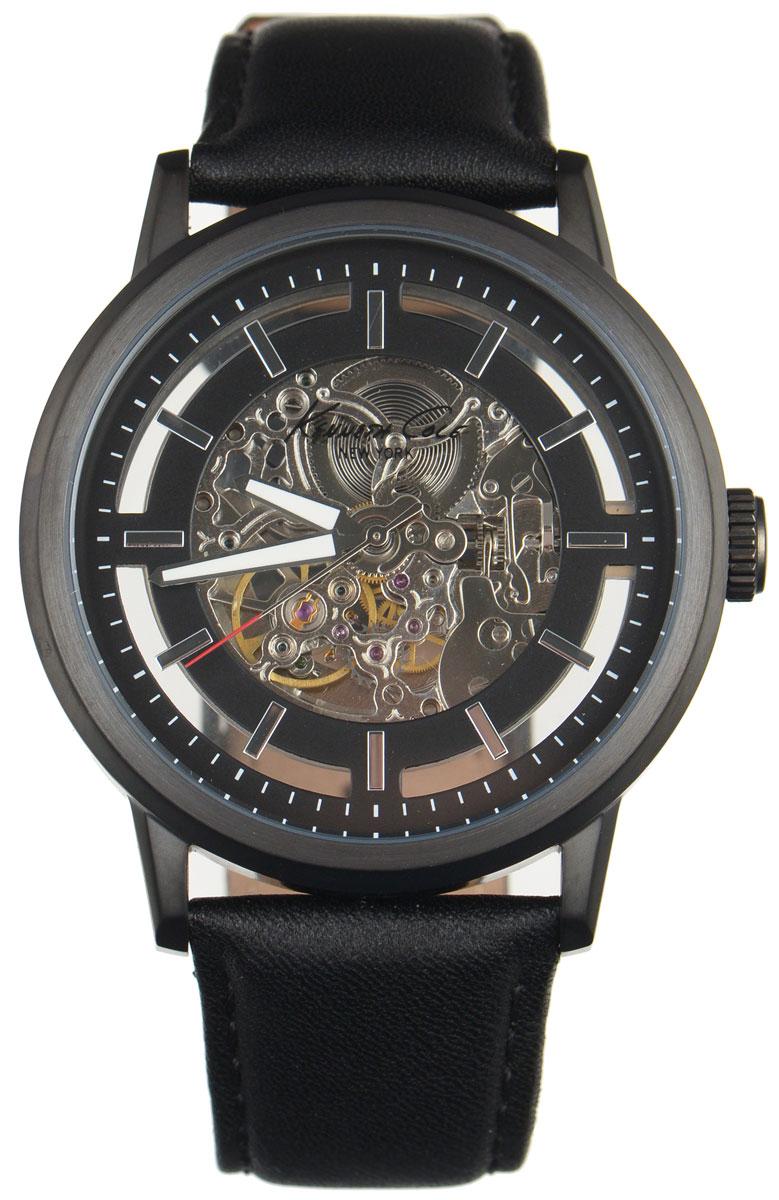 Часы наручные мужские Kenneth Cole, цвет: черный. IKC1632IKC1632Мужские механические скелетонизированные часы Kenneth Cole изготовлены из материалов самого высокого качества на базе новейших технологий. Циферблат оформлен символикой бренда. Корпус часов имеет степень влагозащиты, равную 3 Bar, оснащен механическим механизмом, а также устойчивым к царапинам минеральным стеклом. Задняя крышка дополнена стеклянной вставкой, благодаря чему видно элементы механизма. Ремешок, выполненный из натуральной кожи, застегивается на практичную пряжку. Часы поставляются в фирменной упаковке. Часы Kenneth Cole подчеркнут отменное чувство стиля их обладателя.
