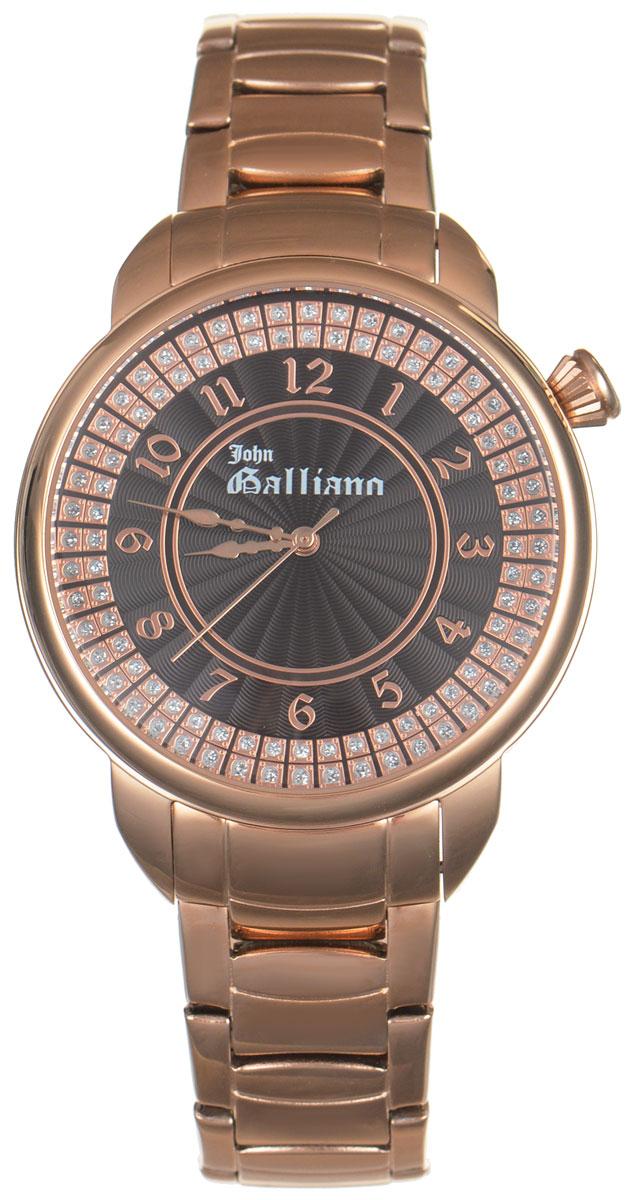 Часы наручные женские Galliano, цвет: золотой. R2553126501R2553126501Элегантные женские часы Galliano выполнены из нержавеющей стали с PVD-покрытием, оформлены символикой бренда. Лаконичный корпус надежно защищен устойчивым к царапинам минеральным стеклом, а также имеет степень влагозащиты 3 Bar. Часы оснащены кварцевым механизмом, дополнены изящным браслетом, который застегивается на практичную раскладывающуюся пряжку. Часы поставляются в фирменной упаковке. Часы Galliano подчеркнут изящество женской руки и отменное чувство стиля у их обладательницы.