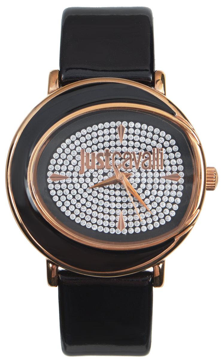 Часы наручные женские Just Cavalli, цвет: черный. R7251186505R7251186505Наручные женские часы Just Cavalli произведены из материалов самого высокого качества на базе новейших технологий. Они оснащены точным кварцевым механизмом. Корпус часов изготовлен из нержавеющей стали с PVD-покрытием, циферблат инкрустирован стразами и защищен минеральным стеклом. Ремешок выполнен из натуральной лаковой кожи и оснащен классической застежкой-пряжкой. Циферблат круглой формы оснащен отметками, а так же тремя стрелками - часовой, минутной и секундной. Часы являются водостойкими - 3АТМ. Изделие укомплектовано в стильную фирменную коробку с названием бренда. Наручные часы Just Cavalli созданы для современных девушек, которые не желают потерять свою индивидуальность в городской суете.