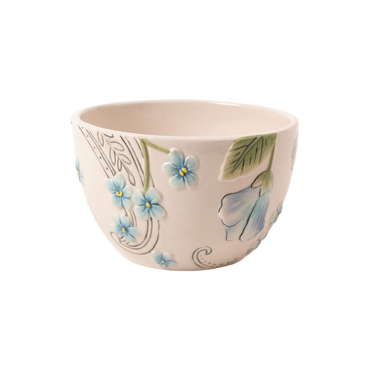 Чаша Fitz and Floyd Цветочный узор, цвет: белый20-622Допустимо использование в микроволновой печи и посудомоечной машине
