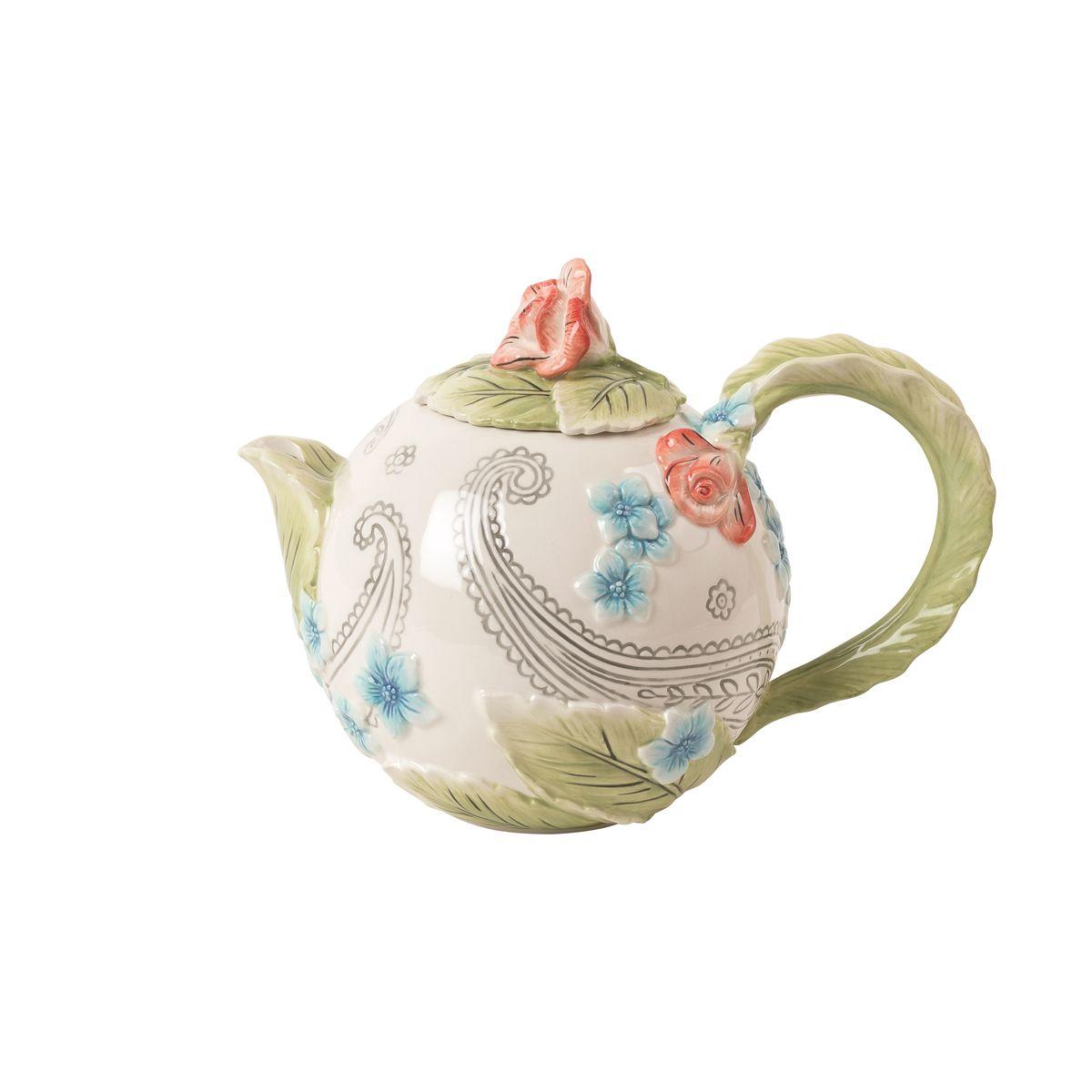 Чайник Fitz and Floyd Цветочный узор20-628Рекомендуется бережная ручная мойка с использованием безабразивных моющих средств.