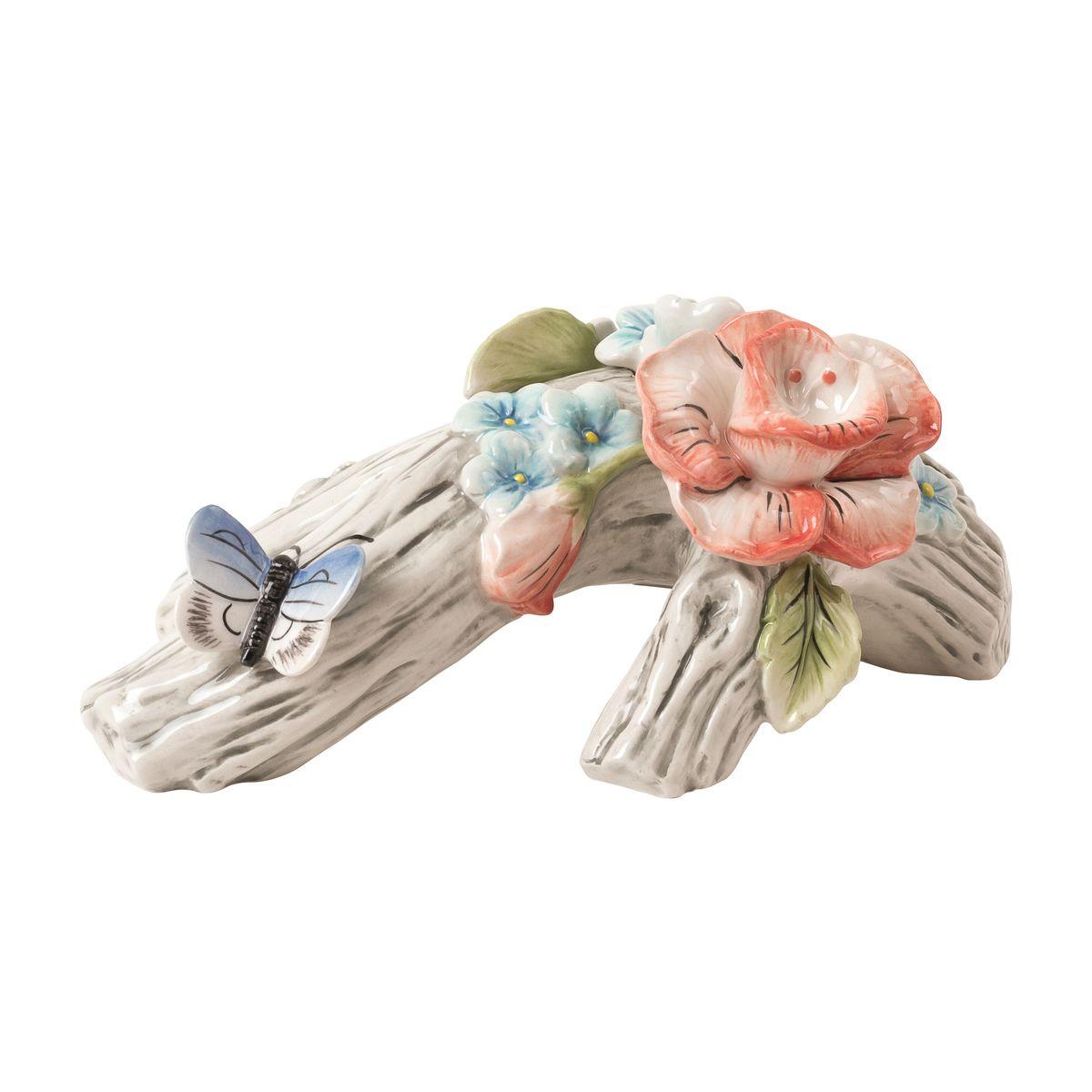 Подсвечник декоративный Fitz and Floyd Цветочный узор. Цветок20-641Рекомендуется бережная ручная мойка с использованием безабразивных моющих средств.