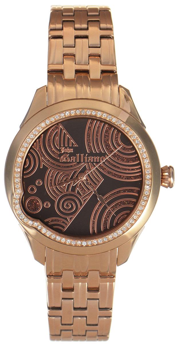 Часы наручные женские Galliano, цвет: золотой. R2553130501R2553130501Наручные женские часы Galliano произведены из материалов самого высокого качества на базе новейших технологий. Они оснащены точным кварцевым механизмом. Корпус часов изготовлен из нержавеющей стали с PVD-покрытием и инкрустирован стразами, циферблат защищен минеральным стеклом. Ремешок выполнен из нержавеющей стали с PVD-покрытием и оснащен практичной раскладывающейся застежкой. Циферблат круглой формы оснащен тремя стрелками - часовой, минутной и секундной. Часы являются водостойкими - 3АТМ. Изделие укомплектовано в стильную фирменную коробку с названием бренда. Наручные часы Galliano созданы для современных девушек, которые не желают потерять свою индивидуальность в городской суете.