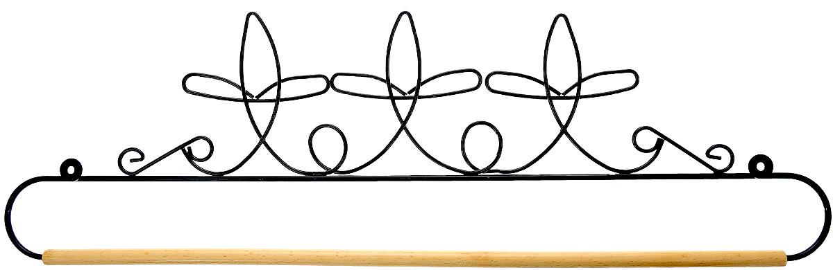 Хангер фигурный Hemline, для панно из квилтинга и вышивки, 51 см. ERQH36.20BLKERQH36.20BLKФигурный хангер Hemline предназначен для работы с панно из квилтинга и вышивки. Изделие выполнено из прочного металла и натурального дерева. Чтобы открыть хангер, вытяните конец проволоки из деревянного дюбеля, закрепите панно, вставьте конец проволоки обратно в деревянный дюбель. Закрепите хангер на стене с помощью винтов (в комплект не входят).