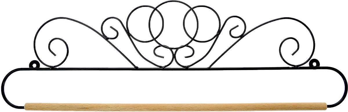 Хангер фигурный Hemline, для панно из квилтинга и вышивки, 51 см. ERQH30.20BLKERQH30.20BLKФигурный хангер Hemline предназначен для работы с панно из квилтинга и вышивки. Изделие выполнено из прочного металла и натурального дерева. Чтобы открыть хангер, вытяните конец проволоки из деревянного дюбеля, закрепите панно, вставьте конец проволоки обратно в деревянный дюбель. Закрепите хангер на стене с помощью винтов (в комплект не входят).