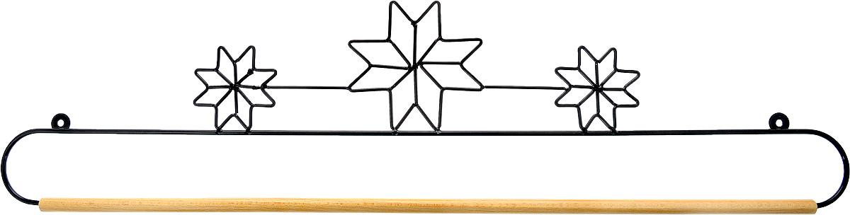 Хангер фигурный Hemline, для панно из квилтинга и вышивки, 61 см. ERQH31.24BLKERQH31.24BLKФигурный хангер Hemline предназначен для работы с панно из квилтинга и вышивки. Изделие выполнено из прочного металла и натурального дерева. Чтобы открыть хангер, вытяните конец проволоки из деревянного дюбеля, закрепите панно, вставьте конец проволоки обратно в деревянный дюбель. Закрепите хангер на стене с помощью винтов (в комплект не входят).