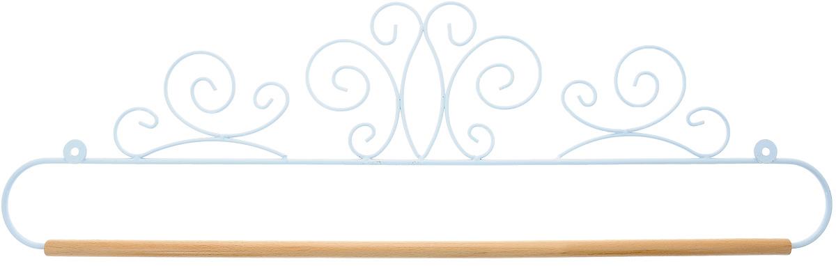 Хангер фигурный Hemline, для панно из квилтинга и вышивки, 51 смERQH37.20WHTФигурный хангер Hemline предназначен для работы с панно из квилтинга и вышивки. Изделие выполнено из прочного металла и натурального дерева. Чтобы открыть хангер, вытяните конец проволоки из деревянного дюбеля, закрепите панно, вставьте конец проволоки обратно в деревянный дюбель. Закрепите хангер на стене с помощью винтов (в комплект не входят).