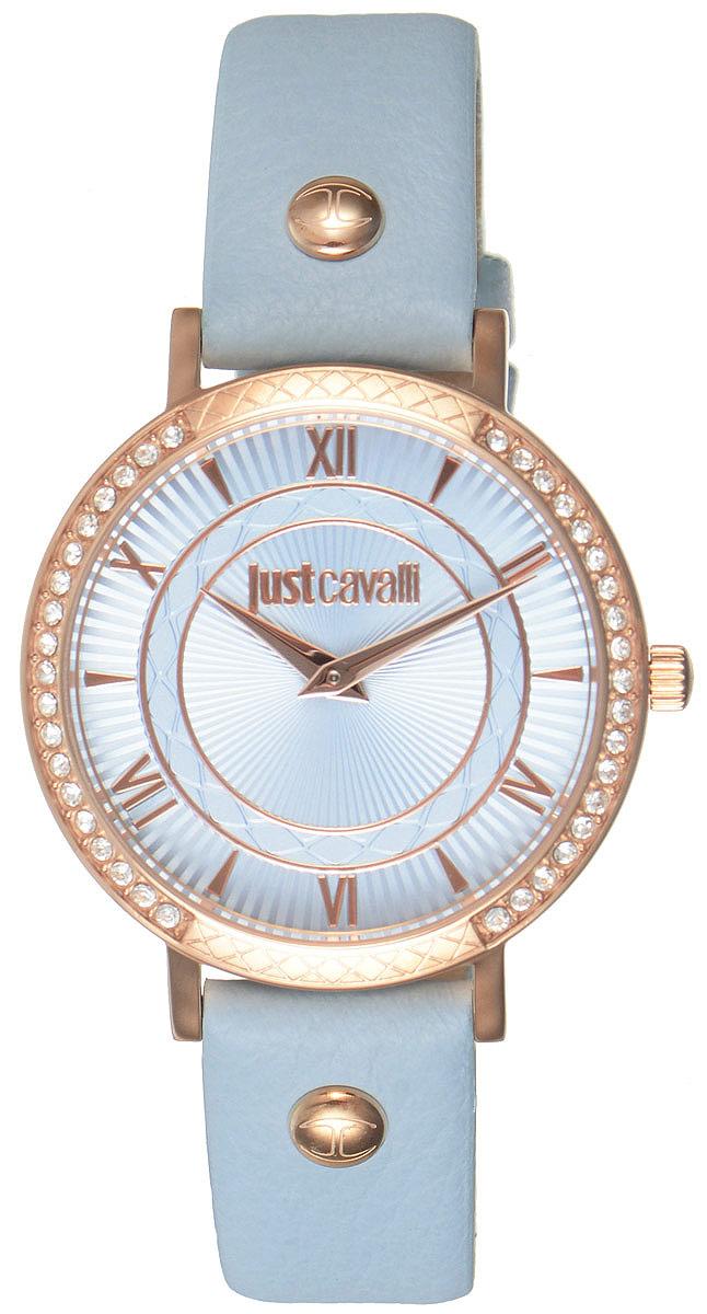 Часы наручные женские Just Cavalli, цвет: голубойй. R7251527501R7251527501Оригинальные женские часы Just Cavalli выполнены из нержавеющей стали с PVD-покрытием. Изделие дополнено символикой бренда. Корпус часов выполнен из нержавеющей стали с PVD-покрытием и инкрустирован стразами. Циферблат дополнен минеральным стеклом и имеет степень влагозащиты равную 3 atm. Ремешок из натуральной кожи имеет практичную пряжку, которая позволит моментально снимать и одевать часы без лишних усилий. Часы поставляются в фирменной упаковке. Часы Just Cavalli подчеркнут изящность женской руки и отменное чувство стиля у их обладательницы.