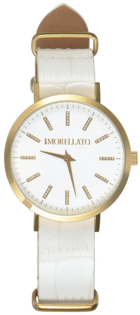 Часы наручные женские Morellato, цвет: белый. R0151133505R0151133505Стильные женские часы Morellato изготовлены из высокотехнологичной гипоаллергенной нержавеющей стали с PVD-покрытием. Ремешок выполнен из натуральной лаковой кожи с тиснением под рептилию и оснащен классической застежкой-пряжкой. Точный кварцевый механизм имеет степень влагозащиты равную 3 Bar и дополнен часовой и минутной стрелками. Циферблат украшен рисками, инкрустированными искусственными кристаллами. Для того чтобы защитить циферблат от повреждений в часах используется высокопрочное минеральное стекло. Изделие упаковано в фирменную коробку и дополнительно в подарочную коробку с названием бренда. Часы Morellato отличаются современным уникальным дизайном, идеальными пропорциями в сочетании с прекрасными материалами, техническими характеристиками и доступной ценой.