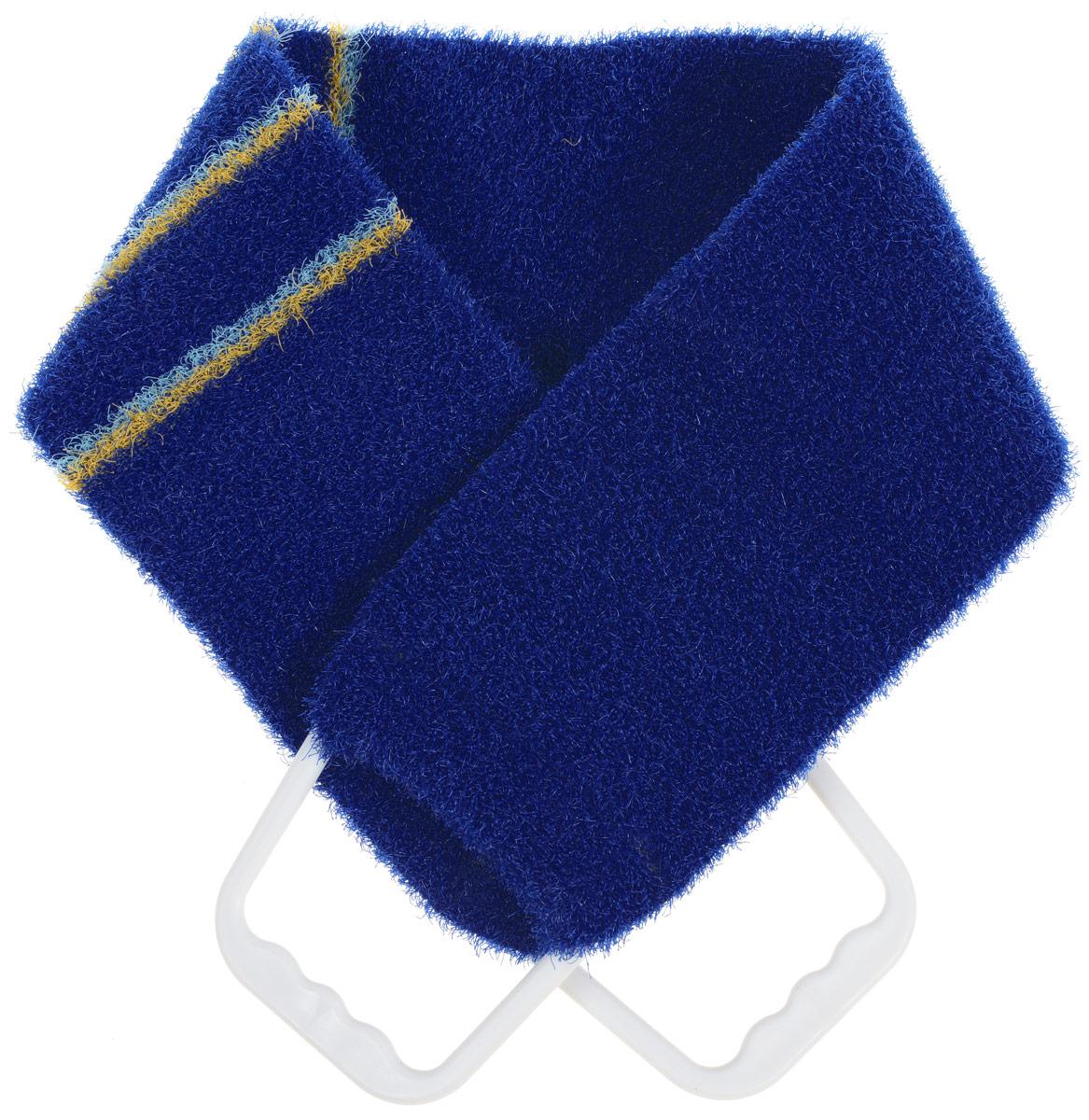 Мочалка-пояс массажная Riffi, жесткая, цвет: темно-синий, 80 х 11 см