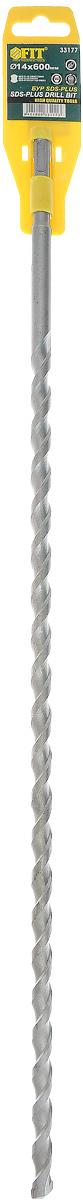 Бур FIT SDS-plus, 14 мм х 600 мм33177_без футляраБур FIT SDS-plus предназначен для использования с перфоратором с системой крепления SDS+, чтобы просверливать отверстия в твердом материале, бетонной стене, кирпичной кладке и других материалах. Изделие выполнено из высококачественной стали. Максимальное количество оборотов: 900 об/мин. Ширина рабочей части: 14 мм.
