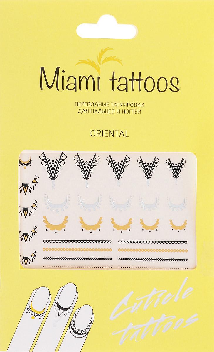 Miami Tattoos Флэш тату для пальцев и ногтей Miami Tattoos Oriental 1 лист 10 см х 15 смMT0005Miami Tattoos - это дизайнерские переводные тату-украшения. Оригинальные тату для кутикул - это ультрамодное дополнение к вашему маникюру! Они не только эффектно смотрятся, но еще и визуально вытягивают ногти, делая их более изящными. Для производства Miami Tattoos используются только качественные,?яркие?и?стойкие?краски. Они?не вызывают аллергию и держатся?до семи?дней!