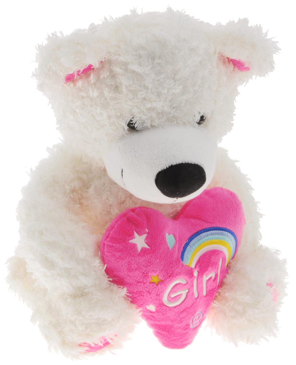 Sonata Style Мягкая игрушка Медведь Радуга 35 смGT8536Мягкая игрушка Sonata Style Медведь Радуга вызовет умиление и улыбку у каждого, кто ее увидит. Игрушка выполнена в виде милого медвежонка-девочки белого цвета. В лапках мишка держит розовое сердце. Игрушка изготовлена из приятного на ощупь текстиля с мягким наполнителем из гипоаллергенного материала. Удивительно мягкая игрушка принесет радость и подарит своему обладателю мгновения нежных объятий и приятных воспоминаний. Великолепное качество исполнения сделают эту игрушку чудесным подарком к любому празднику.