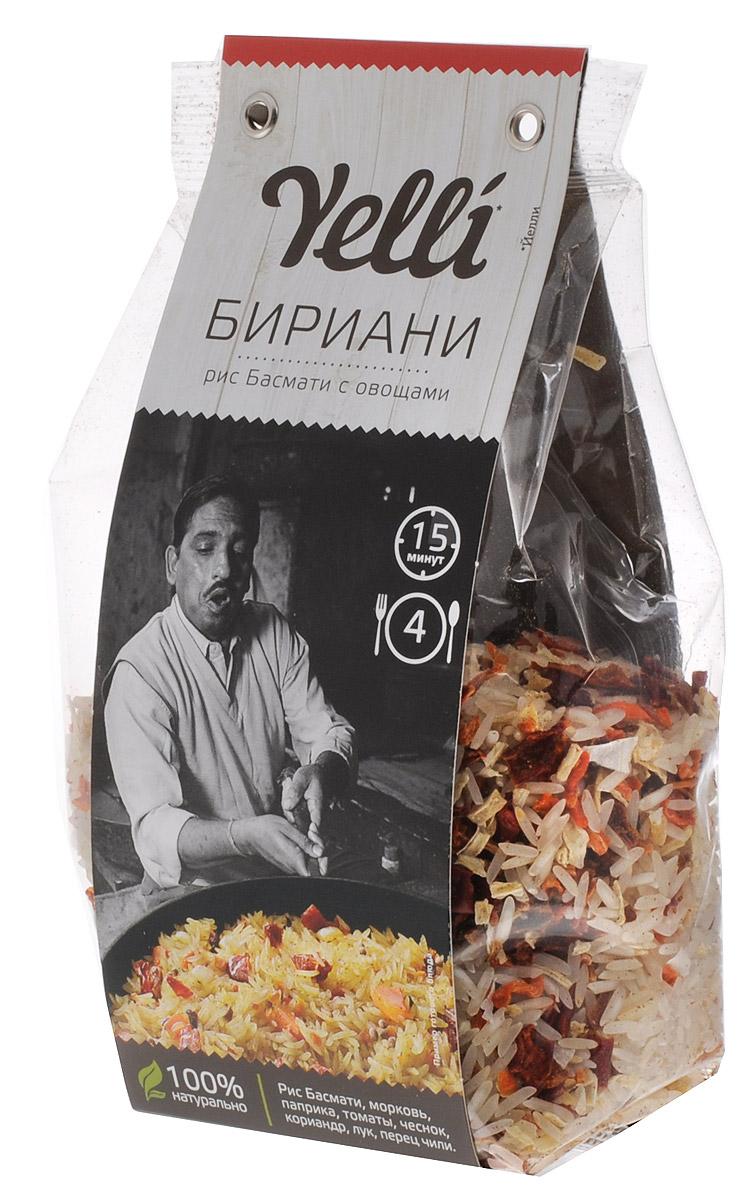 Yelli Бириани рис басмати с овощами, 250 гЕЛ 135/7Бириани – известное блюдо южно-азиатской кухни, особенно популярное в Индии. Бириани имеет множество вариаций, но его основа – тонкий и ароматный рис Басмати – остается неизменной. Бириани готовят с мясом или подают мясо отдельно, в вегетарианских рецептах к рису добавляют овощи и специи, иногда орехи.