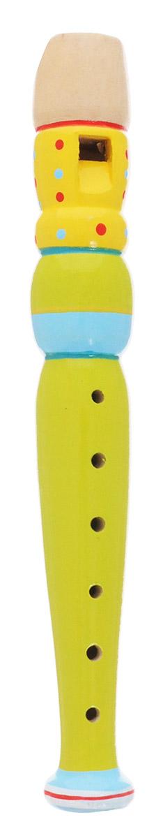 Мир деревянных игрушек Дудочка цвет желтый салатовый голубойД216_салатовый, желтый, голубойМузыкальная игрушка Дудочка представляет собой любопытный для малыша духовой инструмент, играть на котором можно с помощью закрывания в соответствующей последовательности дырочек. Дудочка издает приятный звук, который непременно понравится ребенку. С помощью этого инструмента вы сможете устроить веселый концерт и порадовать своих родных и друзей. Музыкальная игрушка поможет вашему ребенку развить звуковое восприятие, концентрацию внимания, а также привить малышу любовь к музыке. Дудочка изготовлена из натурального дерева.