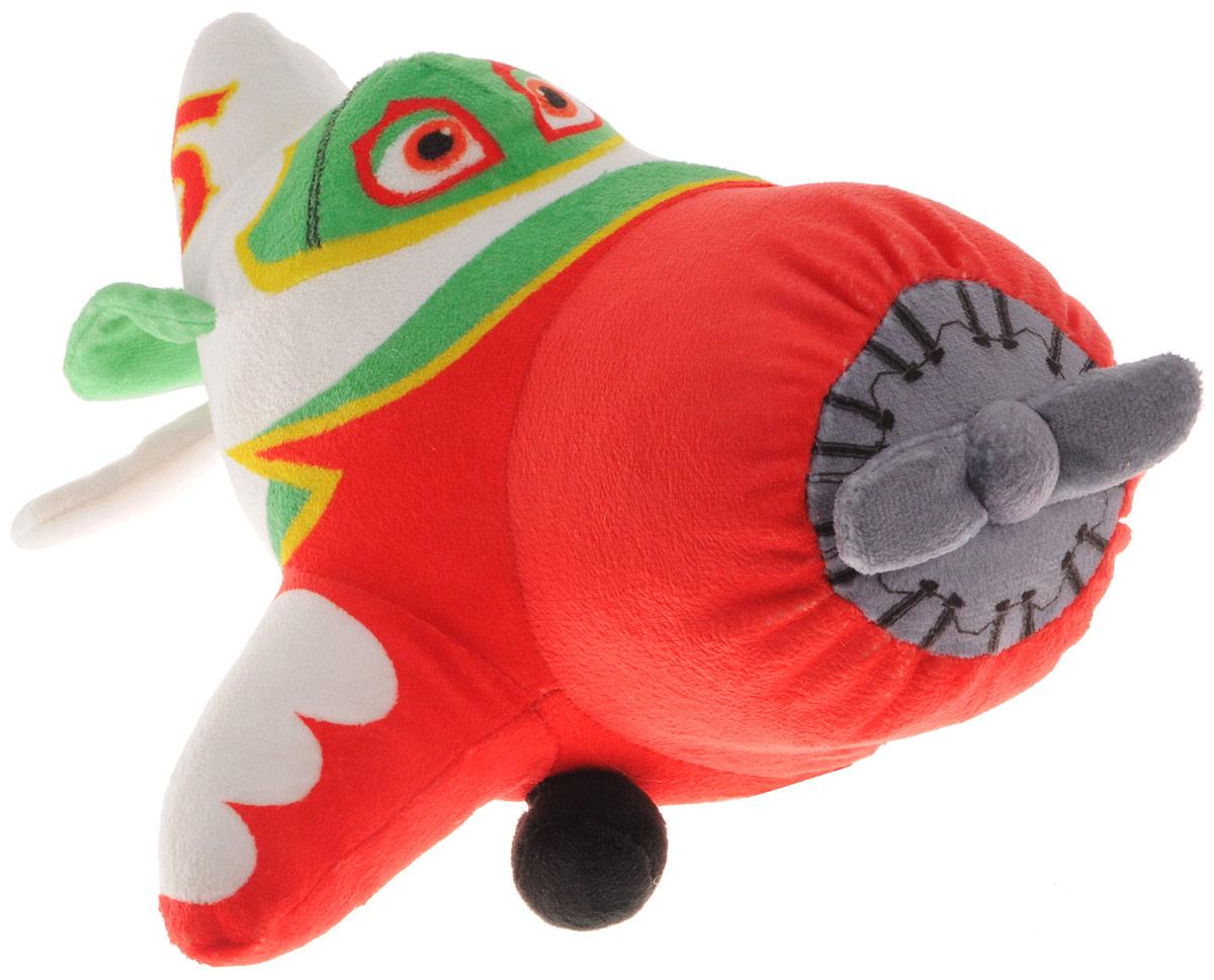 Plush Apple Мягкая озвученная игрушка Самолет Эль Чупакабра 27 смGT7427Мягкая озвученная игрушка Plush Apple Самолет Эль Чупакабра, выполненная из приятного на ощупь мягкого материала, является точной копией мультипликационного героя. С такой игрушкой вы вместе с вашим ребенком сможете придумать бессчетное количество веселых игр и историй. В игрушку встроен чип, который позволяет произносить множество звуков на русском языке (оригинальный голос персонажа и звук мотора), также игрушка вибрирует. Порадуйте вашего малыша таким замечательным подарком! Рекомендуется докупить 3 батарейки напряжением 1,5V типа ААA (товар комплектуется демонстрационными).