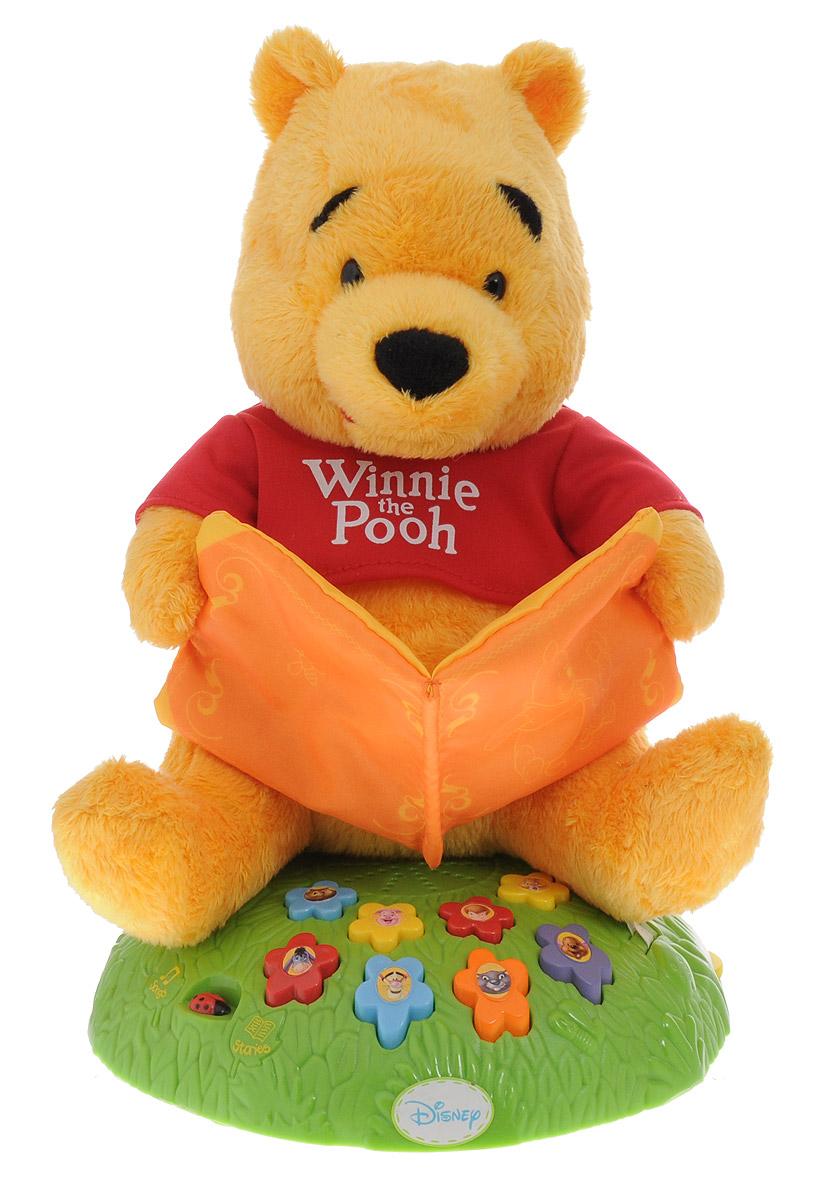 IMC Toys Мягкая озвученная игрушка Винни сказочник 23 см160354Мягкая озвученная игрушка IMC Toys Винни сказочник сидит на подставке в виде зеленой полянки и расскажет вашему малышу веселые истории или споет песенки. Во время звучания историй и песенок медвежонок Винни шевелит ртом и двигается. Винни-Пух знает 8 историй про своих лесных друзей и столько же песенок. Нажимая кнопки в виде цветочков с картинками персонажей мультфильма про Винни, ребенок сам решает какую историю или песенку он хочет послушать. Более 20 минут песенок и захватывающих историй! В игрушке предусмотрена регулировка громкости. Игрушка изготовлена из качественных и безопасных материалов. Рекомендуется докупить 3 батарейки напряжением 1,5V типа АА (товар комплектуется демонстрационными).