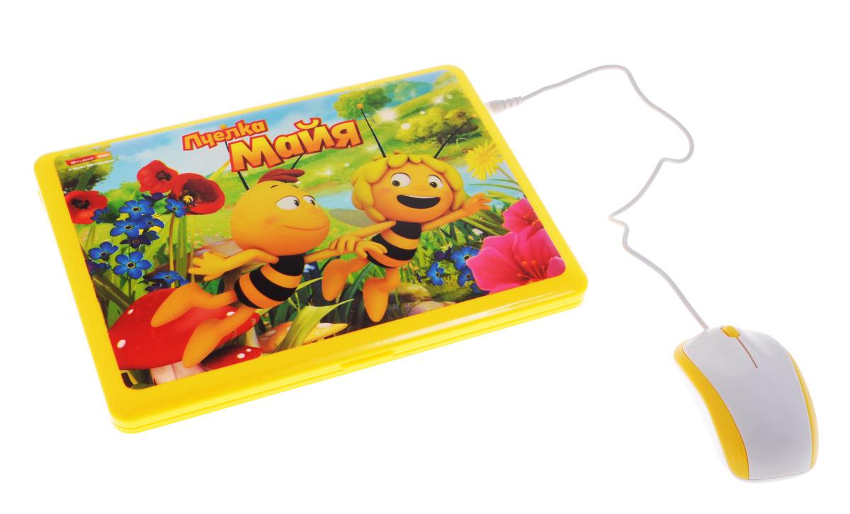 Пчелка Майя Электронная игрушка Обучающий компьютер82009-6REЭлектронная игрушка Пчелка Майя Обучающий компьютер с цветным экраном замечательно подойдет в качестве первого компьютера для вашего малыша. Изделие выполнено из высококачественных полимеров, которые абсолютно безопасны для детей. Компьютер включает в себя 53 функции, 8 игр и песенку из мультфильма. С помощью данной игрушки ребенок выучит буквы, слова, цифры, научится читать, считать, разовьет память. Задания, входящие в программу обучения, позволяют малышу развить логическое мышление, внимание, а также мелкую моторику рук. Ребенок научится думать и принимать решения. В комплект входит мышка. Рекомендуется докупить 3 батарейки типа АА (товар комплектуется демонстрационными). С такой игрушкой день будет наполнен увлекательными и одновременно познавательными играми.