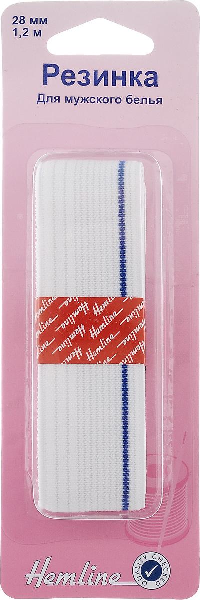 Резинка для мужского белья Hemline, 2,8 х 120 см640Эластичная резинка Hemline изготовлена из полиэстера и латекса. Имеет большую ширину, используется для отделки мужского нижнего белья. Допускается машинная стирка, сушка в стиральной машине. Не допускается отбеливание, глажение, химчистка.