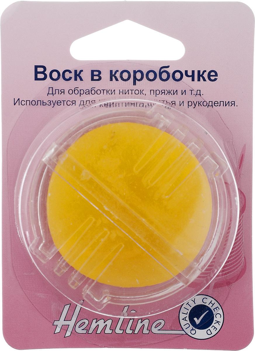 Воск Hemline, в коробочке228Воск Hemline используется для квилтинга, шитья и рукоделия, предназначен для обработки ниток и пряжи. Чтобы нитка не скручивалась и не спутывалась, пропустите ее через желобок в пластиковом контейнере и покройте воском. Диаметр восковой пластины: 4 см.