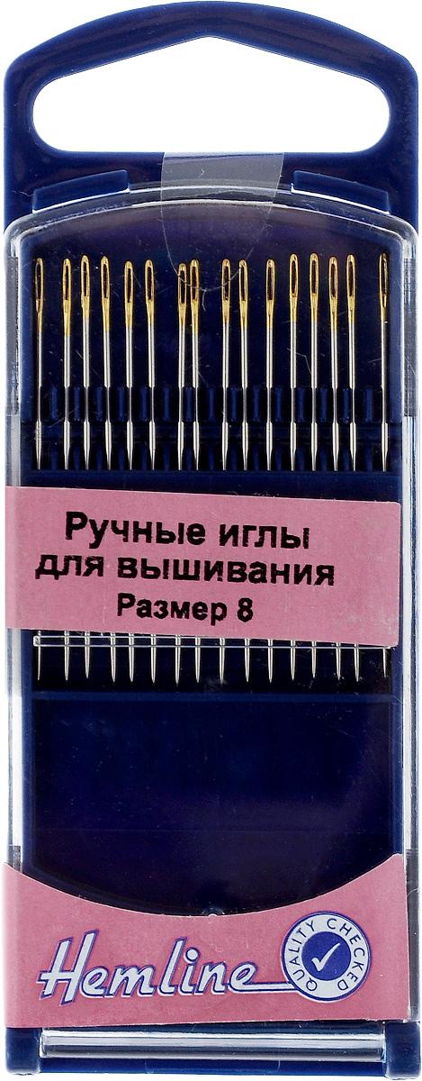 Иглы ручные для вышивания Hemline, с острым кончиком, №8, 16 шт280G.8Ручные иглы для вышивания Hemline выполнены из высококачественной стали. Острый кончик игл идеален для вышивания мелких деталей. Имеют удлиненное ушко для более легкого продевания нити. Усовершенствованные, для многократного применения. Для удобного и безопасного хранения предусмотрен пластиковый контейнер. Размер: №8. Длина иглы: 3,6 см.