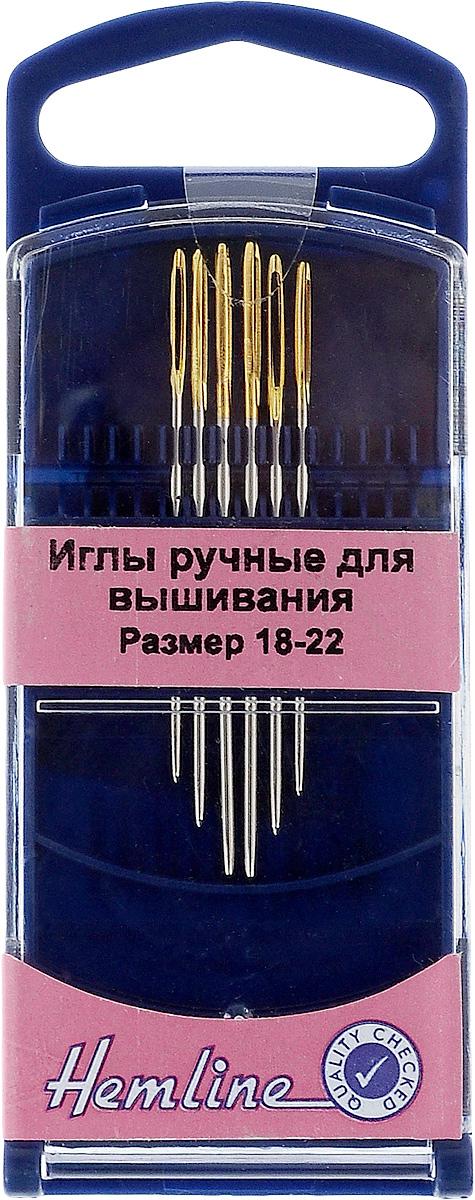 Иглы ручные для вышивания Hemline, с закругленным кончиком, №18-22, 6 шт283G.1822Ручные иглы для вышивания Hemline выполнены из высококачественной стали. Закругленный кончик игл при вышивании не рвет канву. Специальное увеличенное ушко позволяет продевать пряжу для вышивания и толстые нити. Усовершенствованные, для многократного применения. Для удобного и безопасного хранения предусмотрен пластиковый контейнер. Размер: №18-22. Длина игл: 4 см, 4,5 см, 5 см.