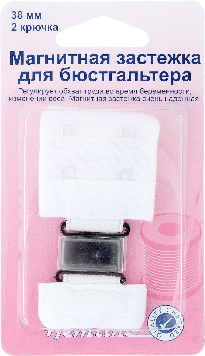 Магнитная застежка для бюстгальтера Hemline, 2 крючка, цвет: белый, ширина 38 мм777.38.WМагнитная застежка для бюстгальтера Hemline изготовлена из текстиля, имеет 2 ряда петелек и 2 металлических крючка. Изделие предназначено для изготовления или ремонта бюстгальтеров. Такая застежка регулирует обхват груди во время беременности или при изменении веса. Застежка легкая и удобная в использовании, не пришивная - благодаря магниту просто достаточно пристегнуть ее. Не подходит для тех, кто носит электронный стимулятор сердца. Ширина: 38 мм. Количество крючков: 2.